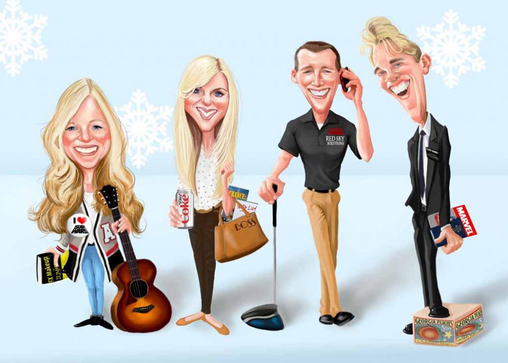 Caricature Christmas Cards – Doodle Art Studios